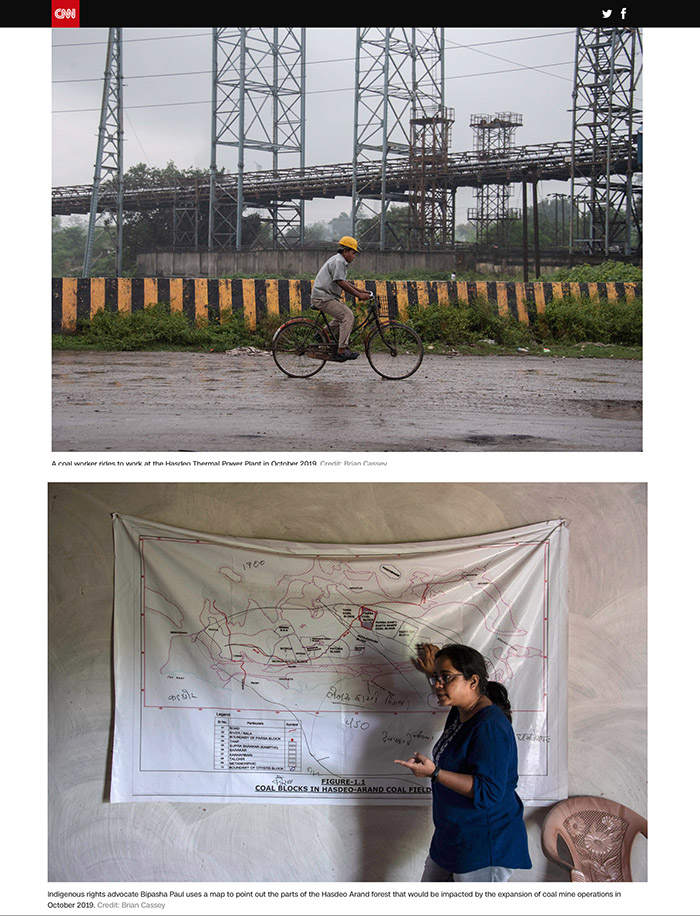 CNN story 'The One Chance We Have' on Covid-19 pandemic hastening a global climate catastrophe - images by Brian Cassey