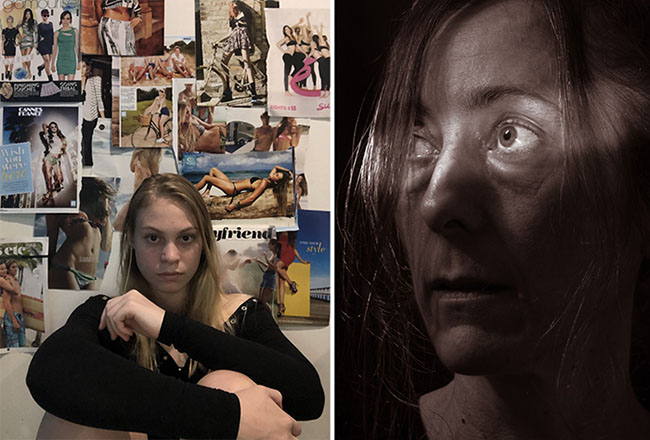 Trinity Bay High School Photographic Portrait Prize - Winners Madison Robinson & Sam Williams - judged by Brian Cassey