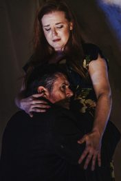 New York Classical Review Jennifer Johnson Cano and Brian Cheney in Gregg Kallor's Sketches from Frankenstein. Photo