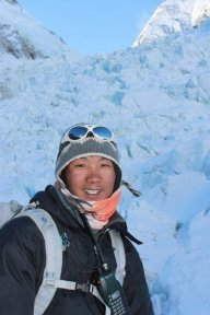 Pasang in the icefall in 2011.
