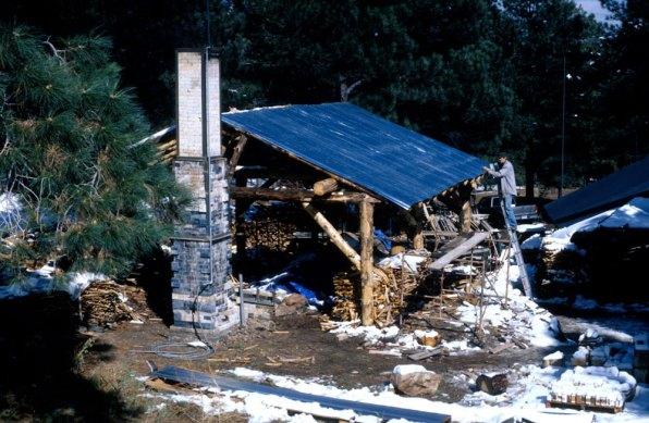 putting metal sheeting on timber frame shed