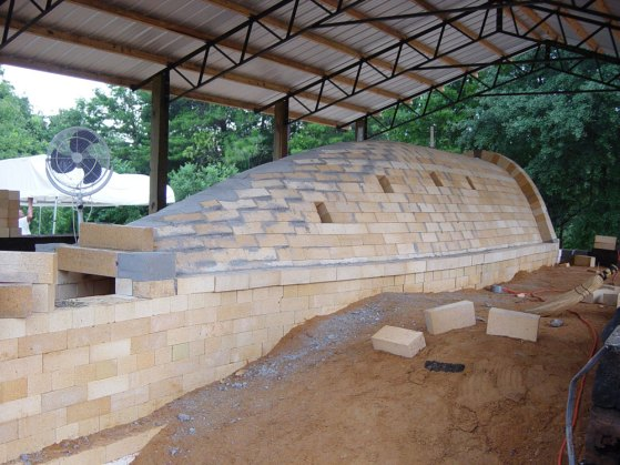 finished brick arch