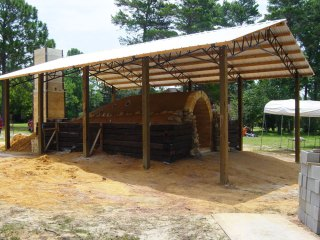 alternate view of kiln