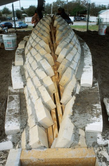 getting ready to pour castable refractory spine