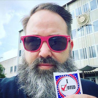 Me, voting.