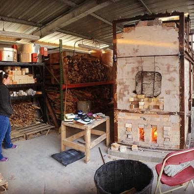 Firing the anagama at IUS Ceramics