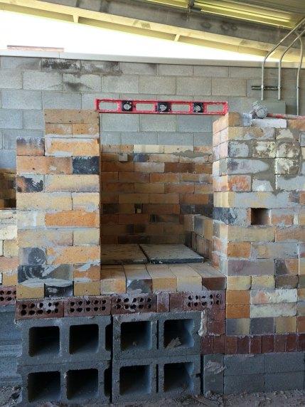 Soda Kiln - leveling the door opening