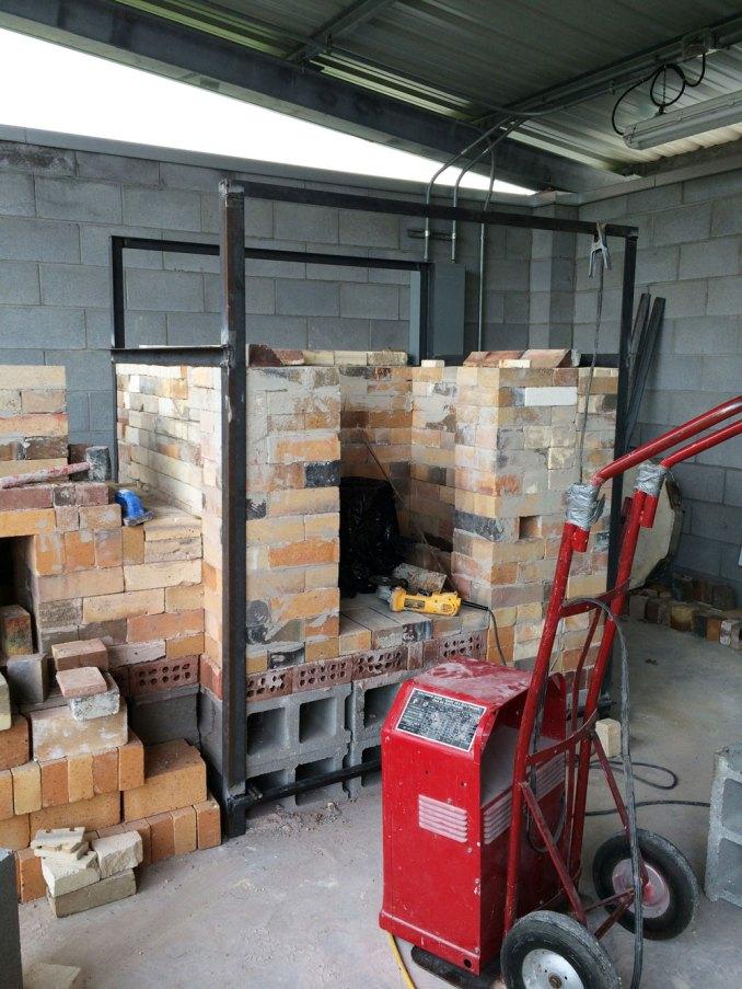 Soda kiln - welding the frame