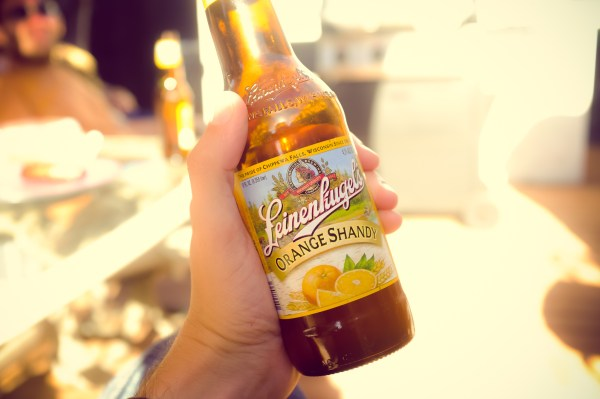 bottle of orange shandy