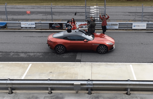 Filming a third series of Cars That Rock near Atlanta (at the ATLANTA MOTORSPORTS PARK) with Amber Balcaen (great NASCAR driver) and the impressive Aston Martin DB11