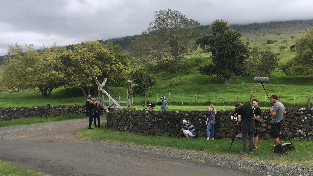 Filming with Mick Fleetwood in beautiful Hawaii - looks just like Britian!