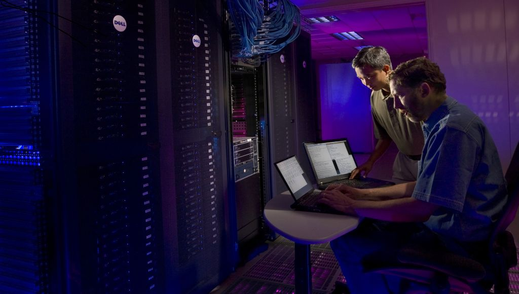 A photo of Linux virtual machines at Sandia National Laboratory