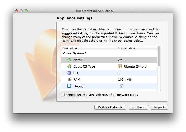 Change name of Mininet virtual machine