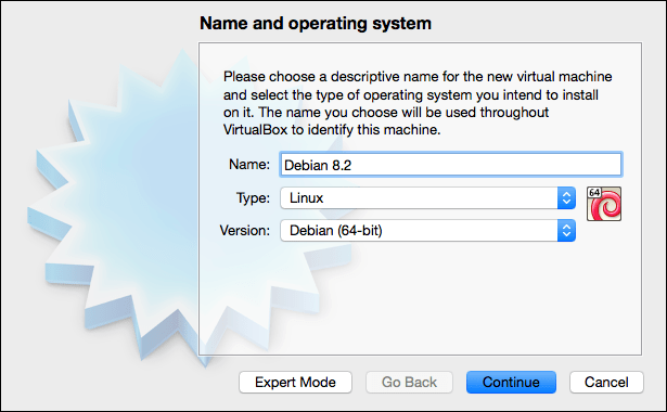 Installing Debian Linux in a VirtualBox Virtual Machine