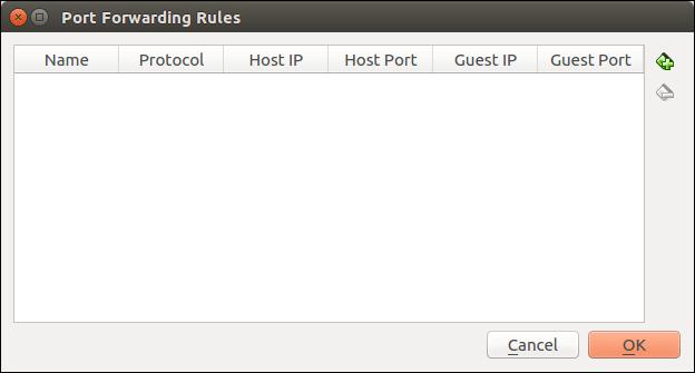 Port forwarding window