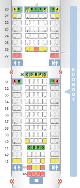 Seatguru Map Of Economy Seats On American Airlines Boeing