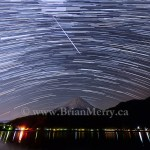 Night sky photograph, Geminid Meteor
