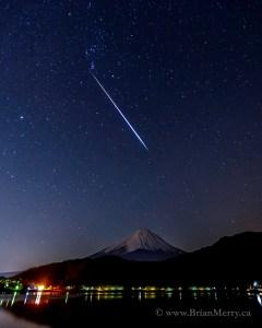 Orion's Light Saber Meets the Japanese God, Fuji San!