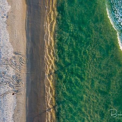 Textured Bay - Aerial Artwork