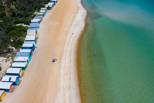 Serene Mt Martha , Aerial Artwork, Brian Randall, Mornington Peninsula, Victoria