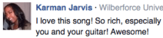 Facebook fan feedback 1