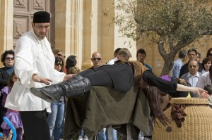 Brian role` and Lola Palmer Suspended On Swords in Mdina