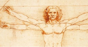da Vinci's drawing of the human form which was a symbol of humanism