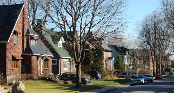 a street in the suburbs to go along with the idea of life with transactional relationships