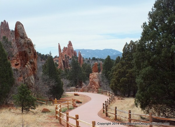 Main Path at the Garden of the Gods, Photography for sale