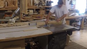 cutting a taper on a wood leg