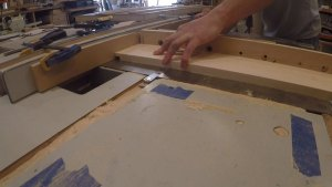 Cutting a dado on the top of a door jamb