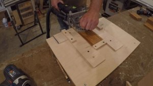 festool domino 500 with plywood jig