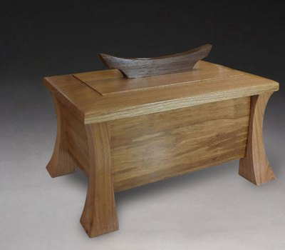 Asian inspired upcycled bamboo box