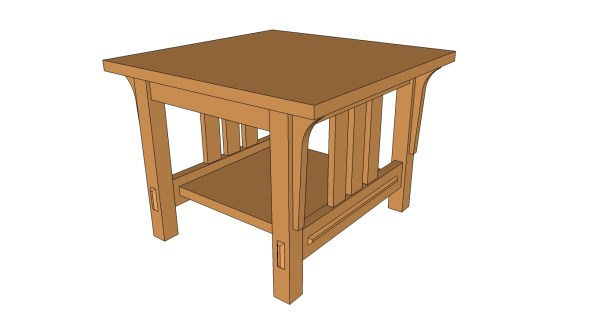 End table Plans arts and Crafts woodworking project idea