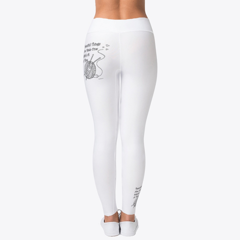 Sewing and Knitting quotes on Leggings