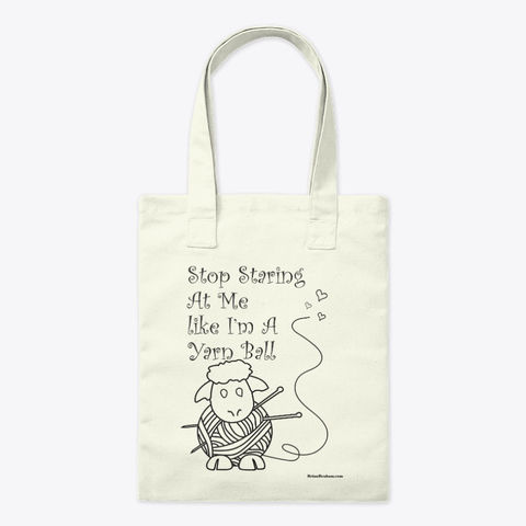 knitting tote bag, sayings about knitting