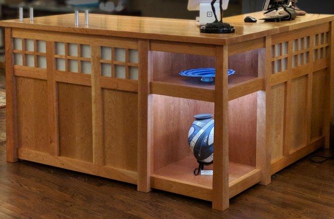Reception Desk for an art Gallery