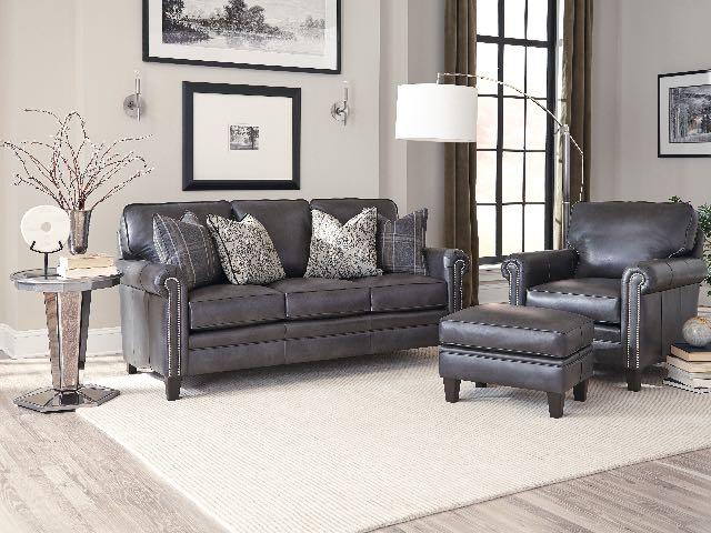 234 leather sofa