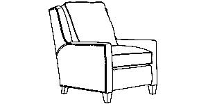 501-33 Pressback recliner