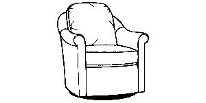 534 Swivel Glider Chair