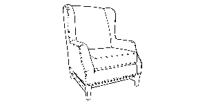 543 Wingback Chair