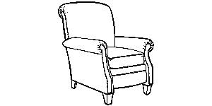704 pressback recliner