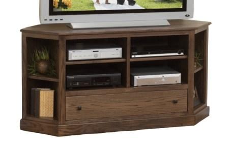 Universal Corner TV Stand - Maple/Cappuccino