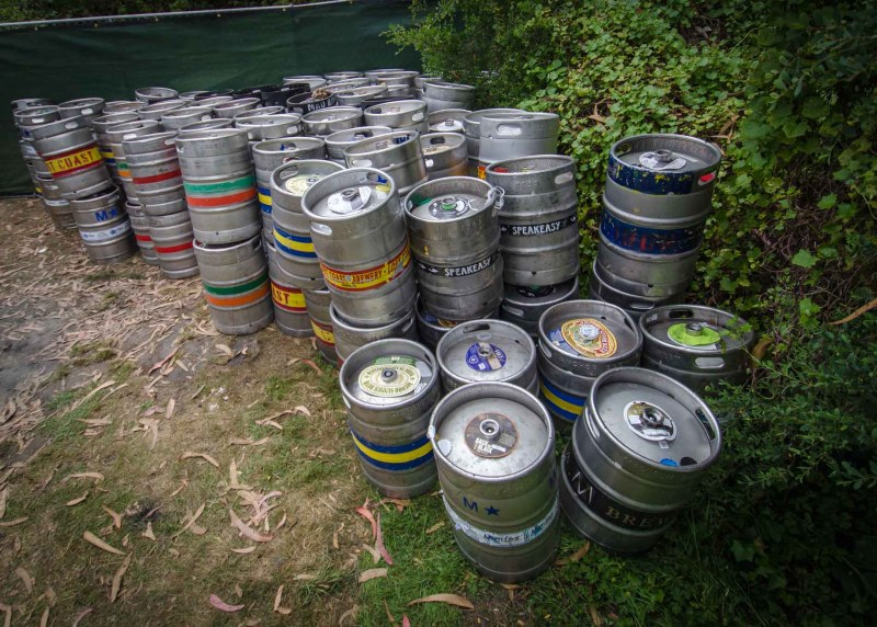 Keg Pile – Outside Lands