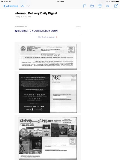 Informed Delivery: A sneak peek at incoming USPS mail – Live