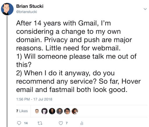 Moving from Gmail to Fastmail…kind of – Live a Story To Tell