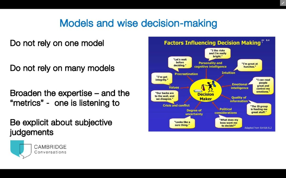 Models and decision making