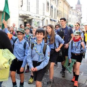 Gruppo di Boy Scout verso Papa Franesco - Foto di Elizabeth Gaeta