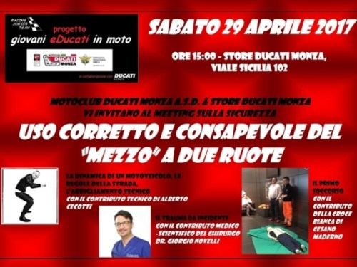 Motoclub Ducati Monza meeting sicurezza