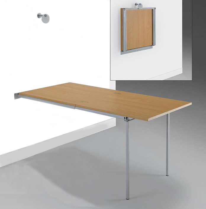 Estructura para mesa plegable y extensible para cocina